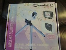 NEW CENTURION WIRELESS SECURITY CAMERA SYSTEM COLOR, 4 CHANNEL 2.4 GHZ RECEIVER