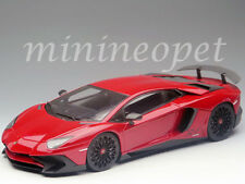 KYOSHO C 09521 R LAMBORGHINI AVENTADOR LP750-4 SV 1/18 DIECAST MODEL CAR RED