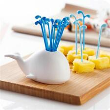 Hot Novelty Whale Style Fruit Cake Salad Forks Home Decoration Kitchen Gadget Q