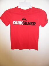 "Quiksilver Little Kid's S/S T-Shirt ""Mountain and Wave"" Red-Size 4T -NWT- Reg$32"