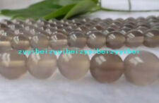 """8MM AAA+++ Natural GRAY CRAZY LACE AGATE Round Gemstones Loose Beads 15""""##ZY075"""
