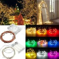 2/3M/4M/5M/10M Battery Operated LED MICRO Silver Copper Wire Fairy String Lights