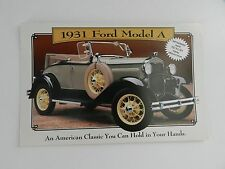 Danbury Mint 1931 FORD MODEL A Convertible Brochure Pamphlet Mailer