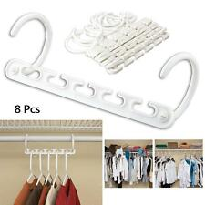 Magical 8X Space Saver Saving Wonder Hanger Clothes Closet Organizer Hooks #KJ