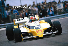 9x6 Photograph Jean Pierre Jabouille  Equipe Renault RS11 , French GP Dijon 1979