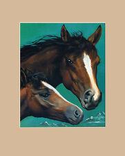 Lluis Bargallo Llurba Zwei Pferde Poster Kunstdruck Bild 50x40cm - Portofrei
