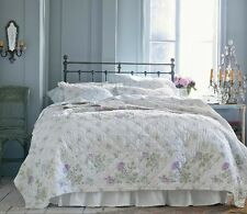 SIMPLY Shabby CHIC Patchwork Hand-Quilted BEDSPREAD Quilt 3pc Set QUEEN