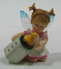 My Little Kitchen Fairies Milk Check Figurine Retired 119276 New in Box with Tag