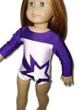 Purple Shooting Star Leotard 18 inch doll clothes fits American Girl Gymnastics
