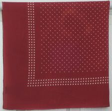 "TERRIART Wine, White Polka Dots Sheer 27"" Square Scarf-Vintage GAP"