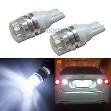 2pcs HID White 360° T10 168 W5WB 2825 LED Bulbs For Car License Plate Lights