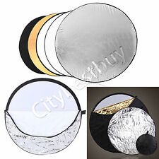 60cm 5 in 1 ways Collapsible Disc Photo Photography Light Reflector Panel Bag