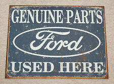 """FORD Genuine Parts Used Here 16"""" x 12"""" Metal Mustang Boss Shelby Garage Man Cave"""