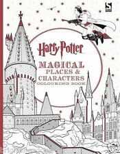 Harry Potter Magical Places Adult Colouring Book J K Rowling Hogwarts Wizard PRE