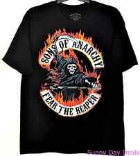 Sons of Anarchy Shirt Fear The Reaper Cotton Black Tee Short Sleeve T-Shirt XL