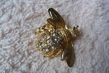 Great bee or wasp paste stones costume jewellery brooch