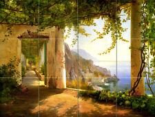 Tumbled Marble Mural Amalfi Coast Backsplash Tile #170