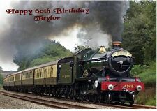 Personalised A5 Vintage Steam Train Birthday Card Any Age Relation Grandson Dad