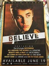 Justin Bieber  Believe Promo Poster 11x17 Beauty and the Beat