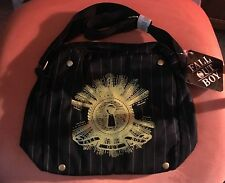 FALL OUT BOY Band Emo Rock Purse Messenger Bag Handbag Keyhole Striped New NWT