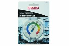 New Apollo Sealed Analogue Dial Fridge Freezer Thermometer Hang /Place In Fridge