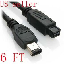 6Ft 9-Pin to 6-Pin FireWire 800/400 Cable IEEE-1394b (3 Feet) IE9496-3