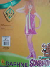 NEW GIRLS M 8-10 SCOOBY DOO DAPHNE DRESS WIG SCARF BOOT TOPPERS DRESS UP COSTUM