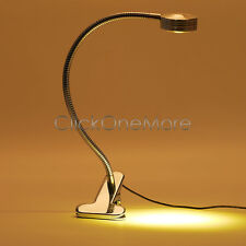 EZI - Silver Dimming Lighting LED Flexible Reading Clip-on Bed Table Desk Lamp