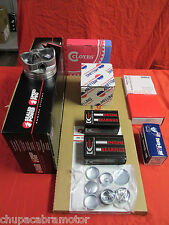 Chevy 350 5.7L Engine Kit Hypereutectic Flat Top Pistons+MOLY Rings+Timing 69-79