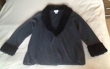 KATHY IRELAND woman dark grey cardigan size 1Extra
