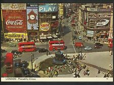Coca Cola Coke postcard Piccadilly Circus London Guinness Double Decker bus