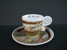 Thun Caffe' Al Volo Expresso Cup And Saucer