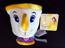 """DISNEY Store PLUSH Beauty and the Beast 2016 CHIP Cup MINI BEAN BAG 5"""" NWT"""