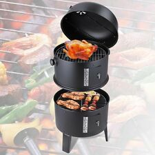 Patio Smoker Grill BBQ Backyard Firepit Charcoal Cooker Meat Grilling Roast