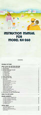 Manual/Pattern/Parts Catalog for Brother KH860 to KH970 & Silver Reed Studio..