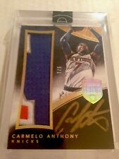Carmelo Anthony 2015 Panini Eminence Basketball Patch Auto 1/5 NY Knicks NBA