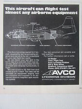 6/73 PUB AVCO LYCOMING AJ-2 AIRCRAFT FLIGHT TEST AIRBORNE EQUIPMENT ORIGINAL AD