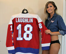 Craig Laughlin Signed Red Jersey - Rock The Red Washington Capitals Inscription