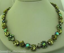 Sorrelli Apple Green Necklace NBE2AGGA Antique gold  tone