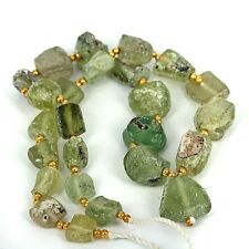 Old - Ancient World Recovered & Reworked Patina Glass Beads. 16 Inch Strand