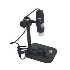 Protable 50X to 500X USB LED Electronic Microscope Magnifier Camera Black FU
