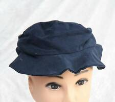 Handmade material plain blue navy hat with floppy brim fashion one sized no 2