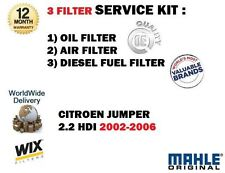 FOR CITROEN JUMPER 2.0 2.2HDi 4/2002-5/2006 SERVICE KIT OIL AIR FUEL  FILTER KIT