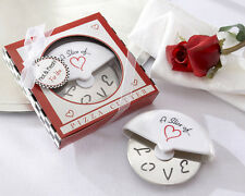 24 Pizza Cutter in Miniature Pizza Box Wedding Favor Bridal Shower Favors