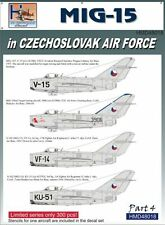 H-Model Decals 1/48 Mikoyan MiG-15 in CzAF, Pt.4 # 48018