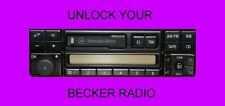 BECKER RADIO  CODE BMW MERCEDES  TRAFFIC MEXICO INDIANAPOLIS FASTEST ON EBAY