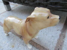 ELITE POTTERY STAFFORDSHIRE BULL TERRIER DOG FIGURE LOVELY COLOURWAY