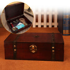 Large Vintage Wooden Storage Gift Box Wedding Party Jewelry Gift Big Box