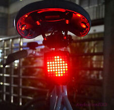 Bicycle Bike Indicator LED Rear Tail Light USB Wireless Remote Control Laser