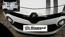 TWINGO II FACELIFT FRONT&REAR BADGE EMBLEM COVER SET in GLOSS BLACK